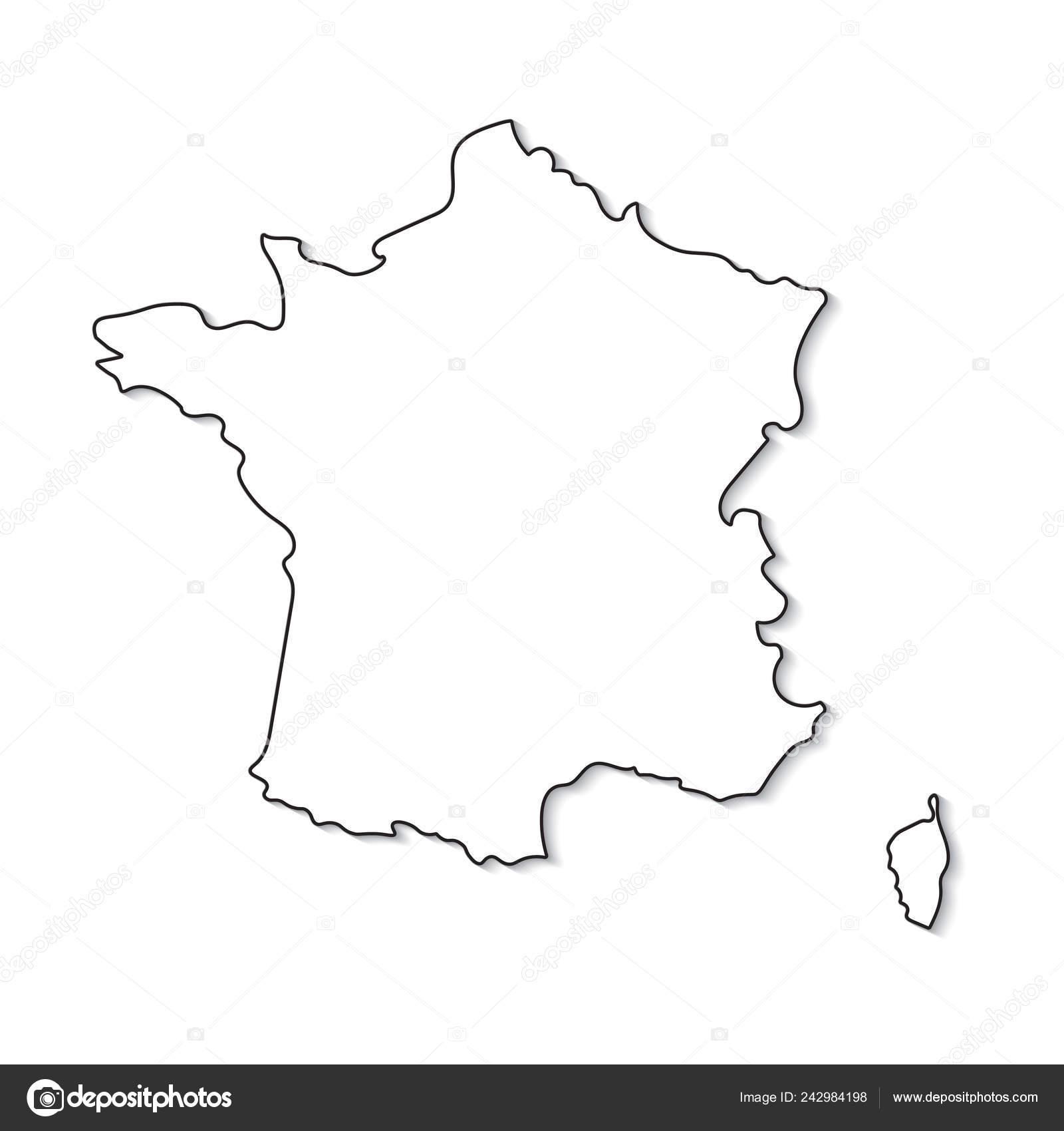Cartina Della Francia In Bianco E Nero.Vettore Cartina Della Francia In Bianco E Nero Bianco