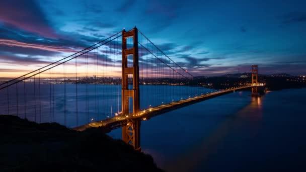 Zlatá brána most východ slunce 4 k čas ukončení videa s neuvěřitelná obloha