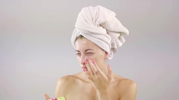 Concept of skincare, cosmetics, beauty, wellness center, facial treatment, facial massage