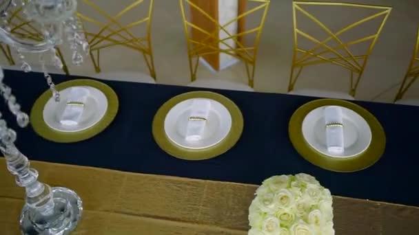 Stůl k akci v restauraci, krásné, catering