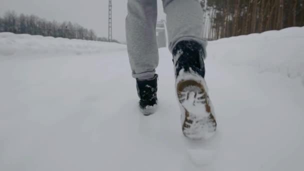 Chůzi nohy v zimě