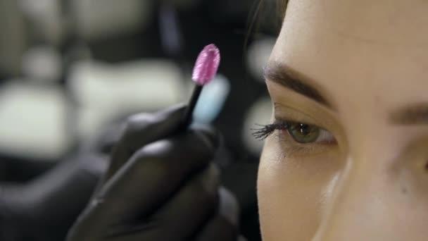 Close-up of a woman on a beauty procedure at beauty salon.
