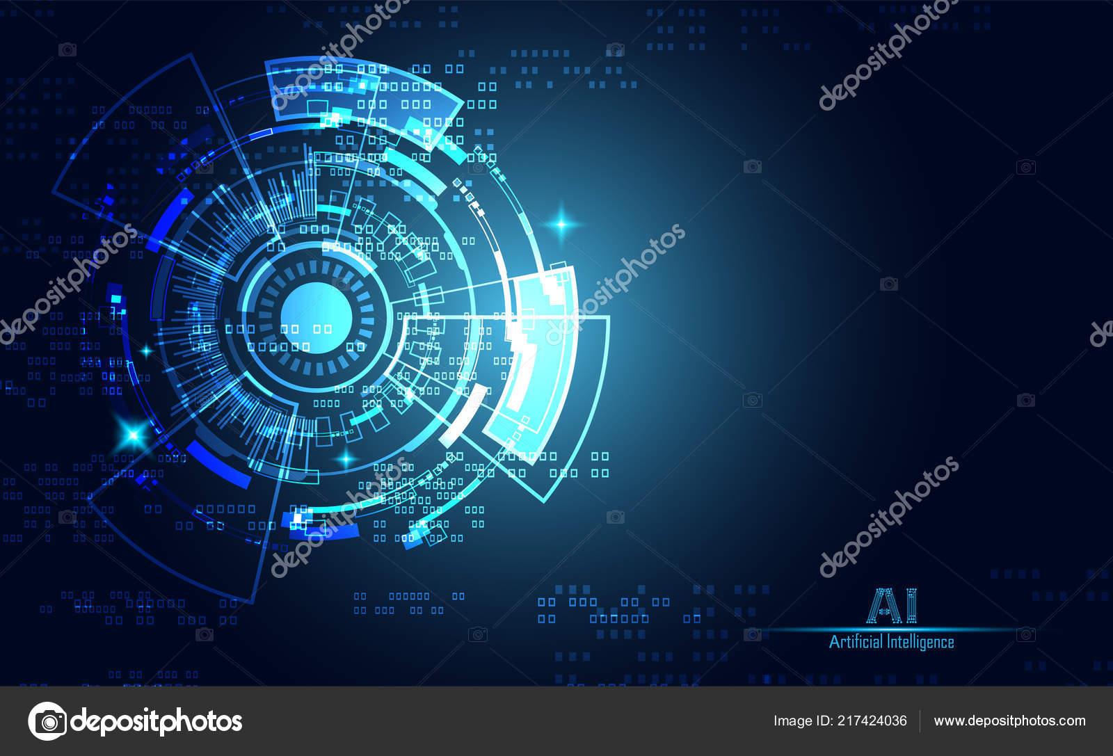 b0d808284ad Современные Технологии Абстрактные Концепции Коммуникации Круг Цифровых  Схем Синем Фоне — стоковый вектор