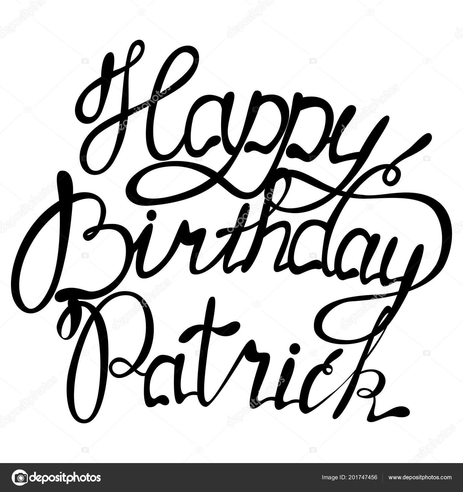 Joyeux Anniversaire Patrick Nom Lettrage Image Vectorielle