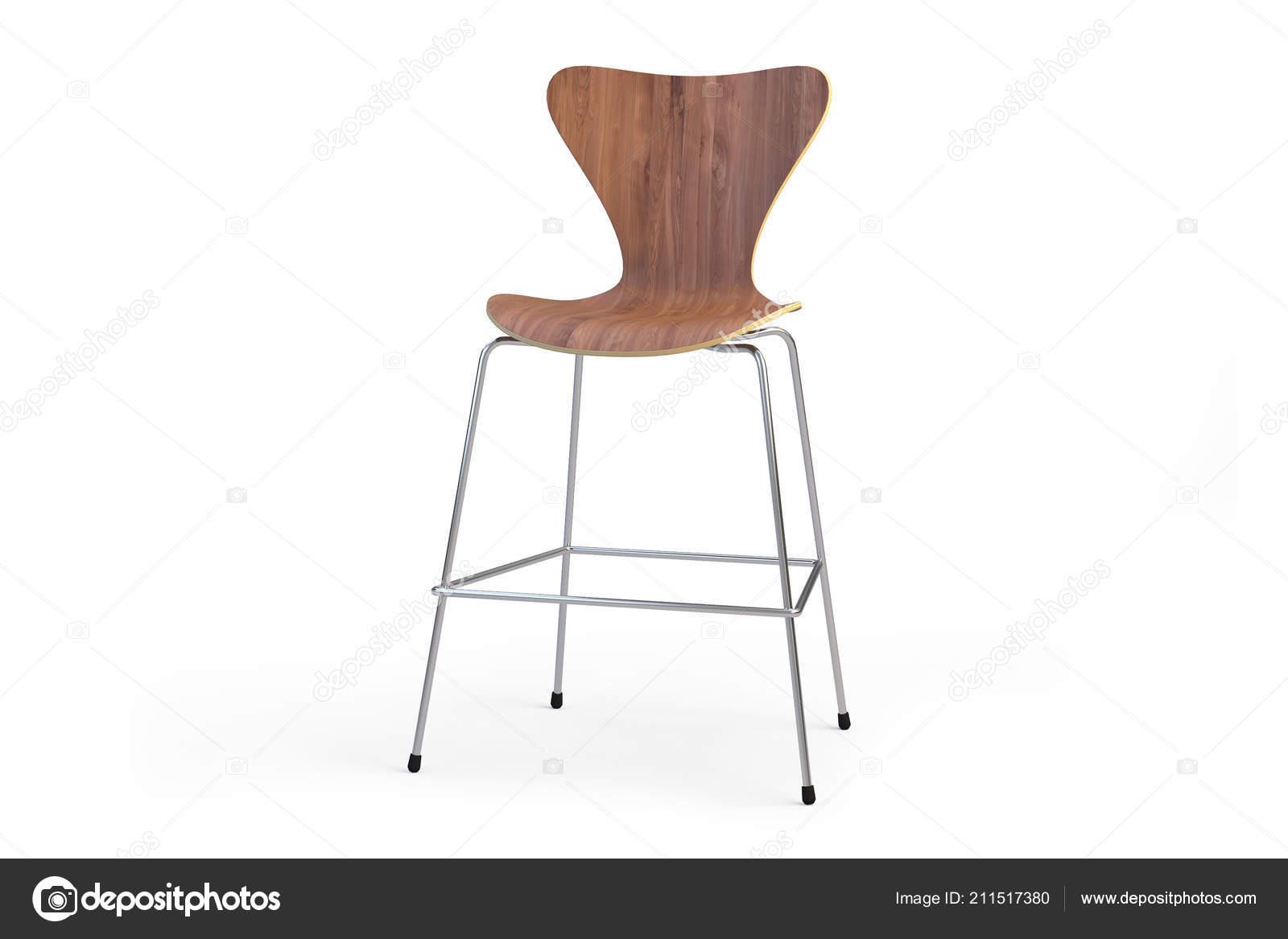 Sgabello bar legno moderna gambe metallo sgabello contatore
