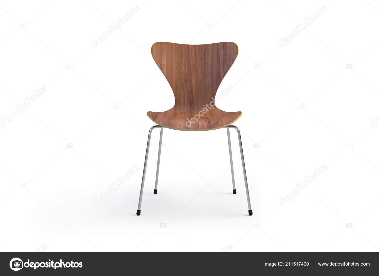 Excellent Modern Wooden Chair Metal Legs Modern Chair White Background Squirreltailoven Fun Painted Chair Ideas Images Squirreltailovenorg