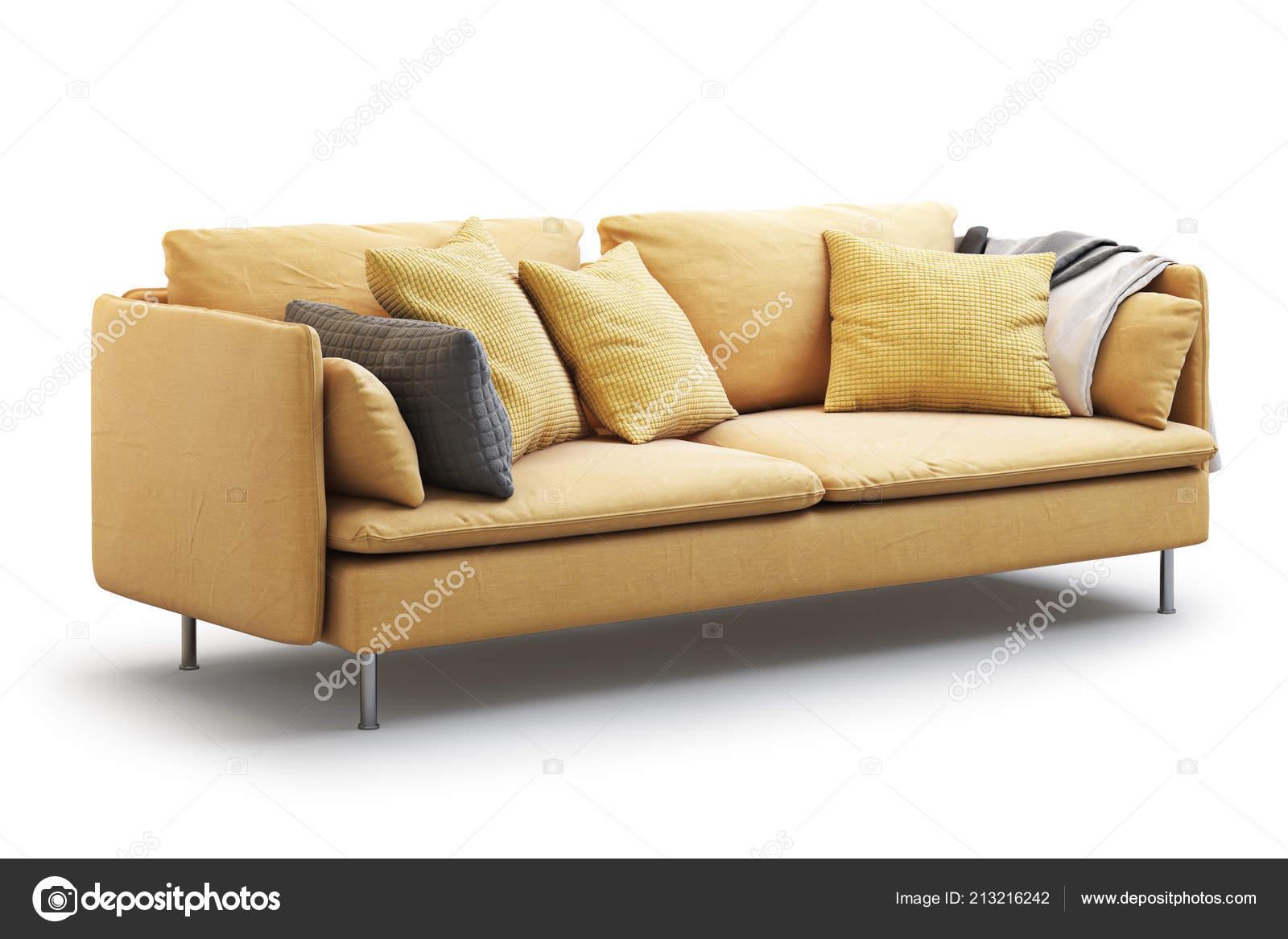 Terrific Modern Yellow Textile Sofa Pillows Plaid White Background Dailytribune Chair Design For Home Dailytribuneorg