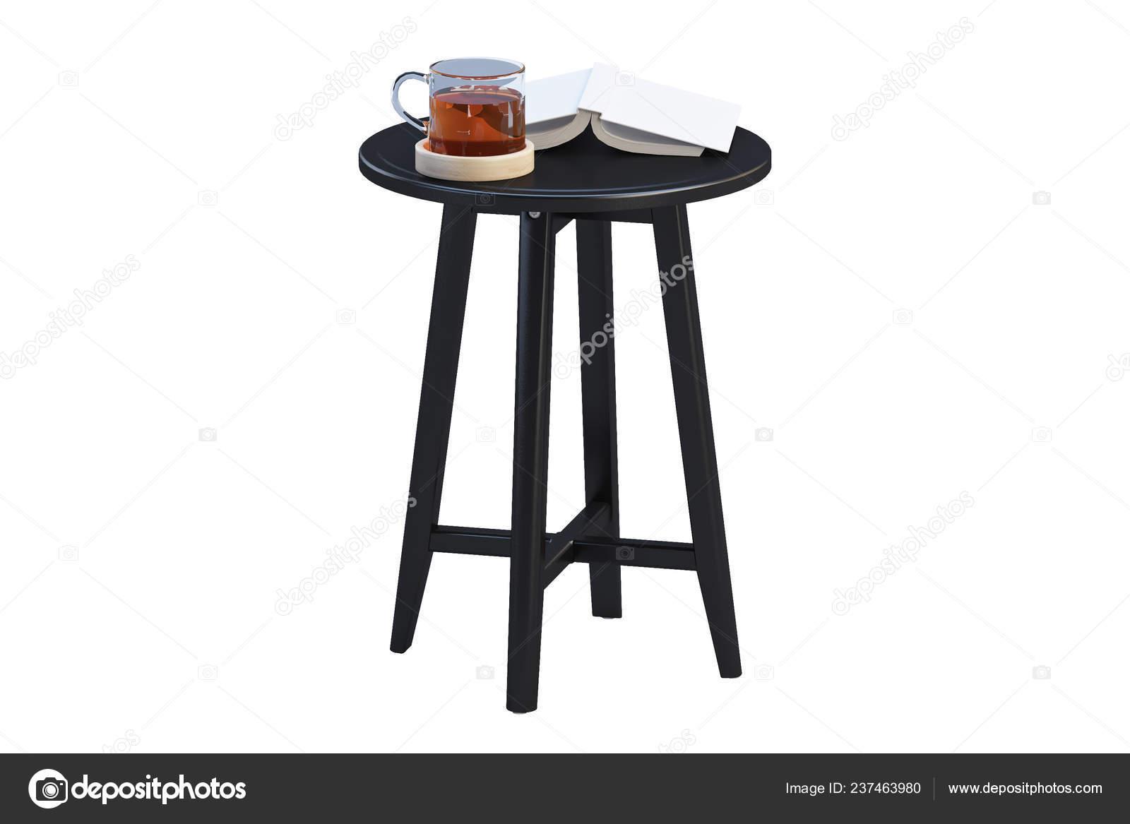 Picture of: Modern Black Coffee Table Books Thin Legs White Background Render Stock Photo C 3dmitruk 237463980