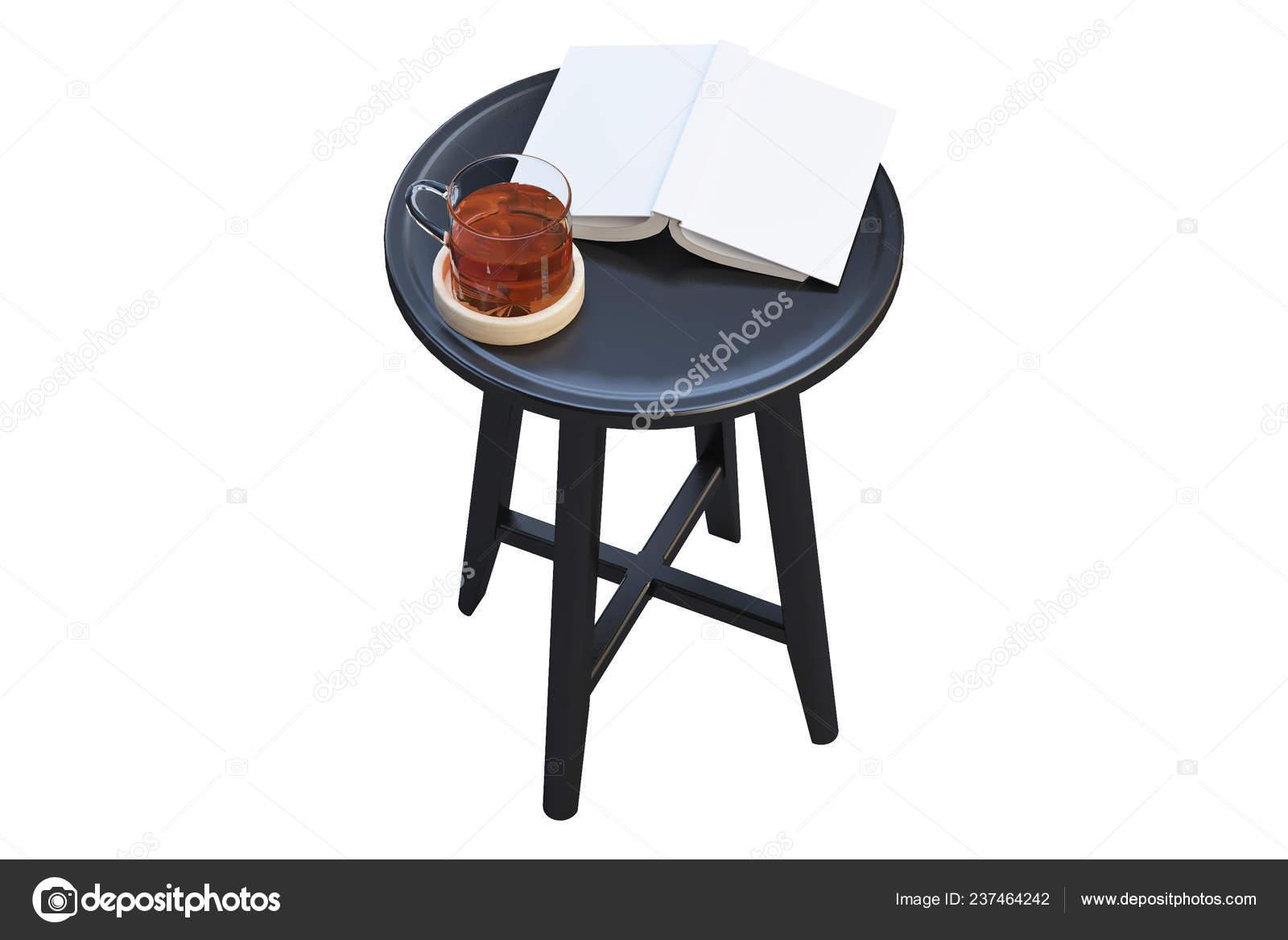 Picture of: Modern Black Coffee Table Books Thin Legs White Background Render Stock Photo C 3dmitruk 237464242