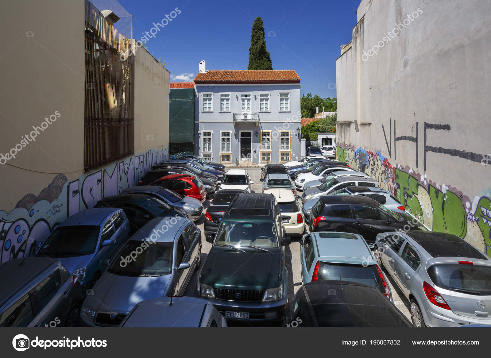 Athens Greece May 2018 Car Parks Can Found Central Parts Stock