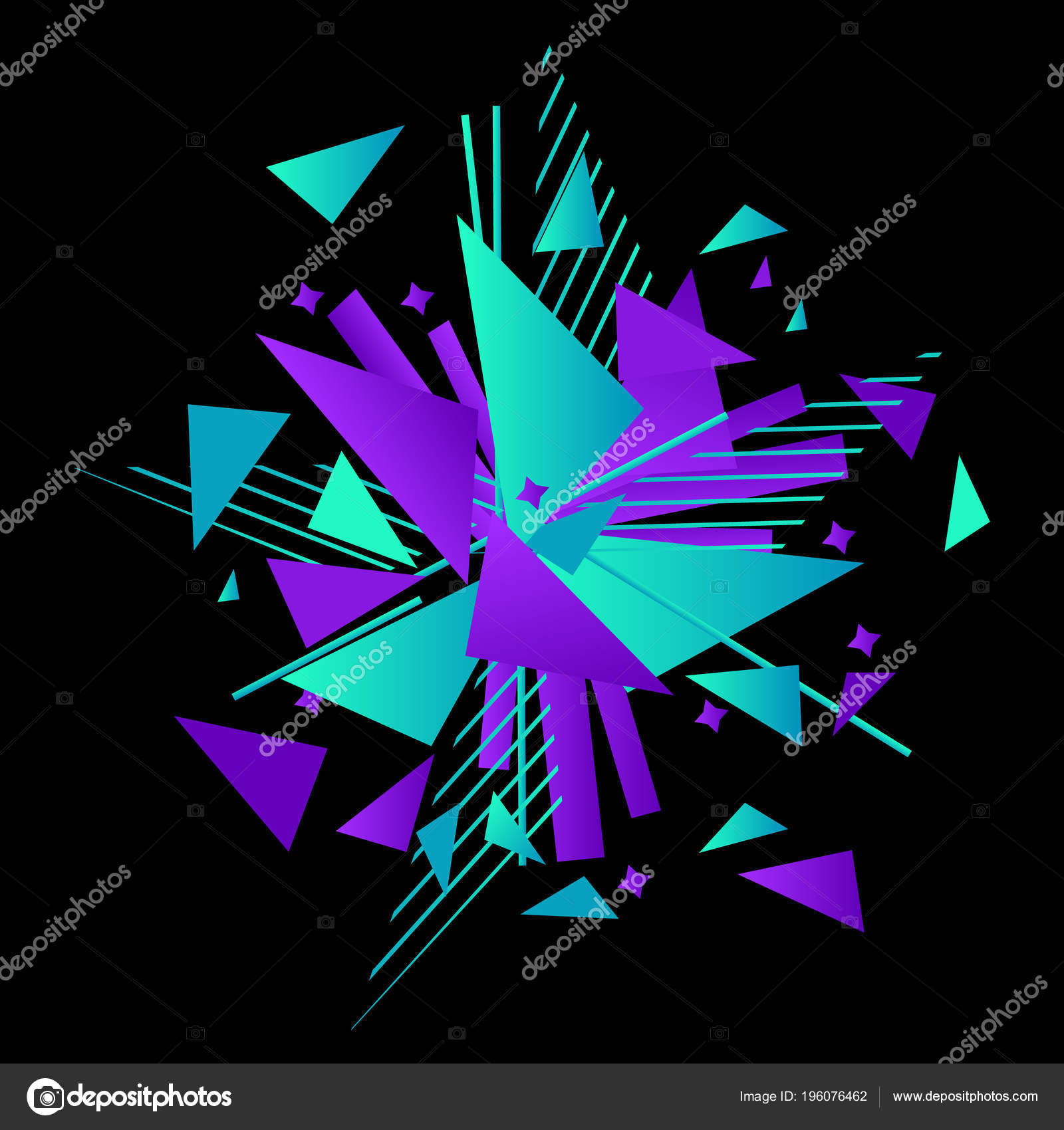 Vector Illustration Abstract Explosion Template Black Background ...