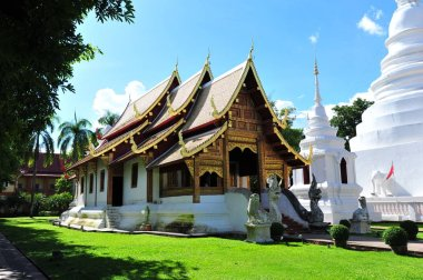 Wat Phra Singh Buddhist temple in Chiang Mai, Northern Thailand