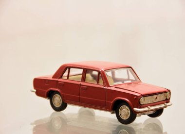 Russia, Saratov-October 23, 2018: Scale model of the Soviet car VAZ 2101, produced in the 70s and 80s of the 20th century.