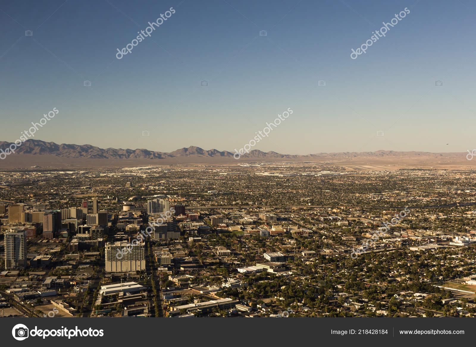 Beautiful Panoramic View Las Vegas Stock Photo