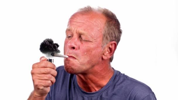 Guy smoking a joint or marijuana