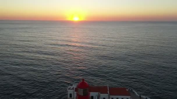 Vzduch z majáku Cabo Vicente v Sagres Portugalsko na slunci