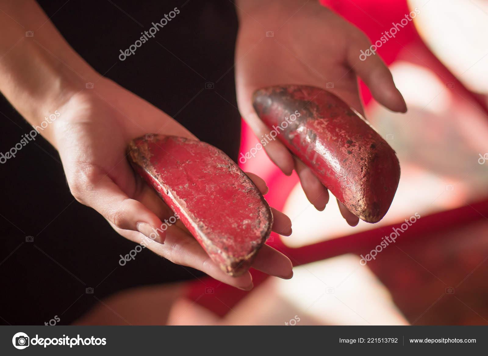 Asian Woman Hand Holding Yin Yang Fortune Telling Wood