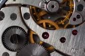 Pocket watch mechanism, closeup, detail