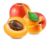 Photo Apricot isolated Clipping Path