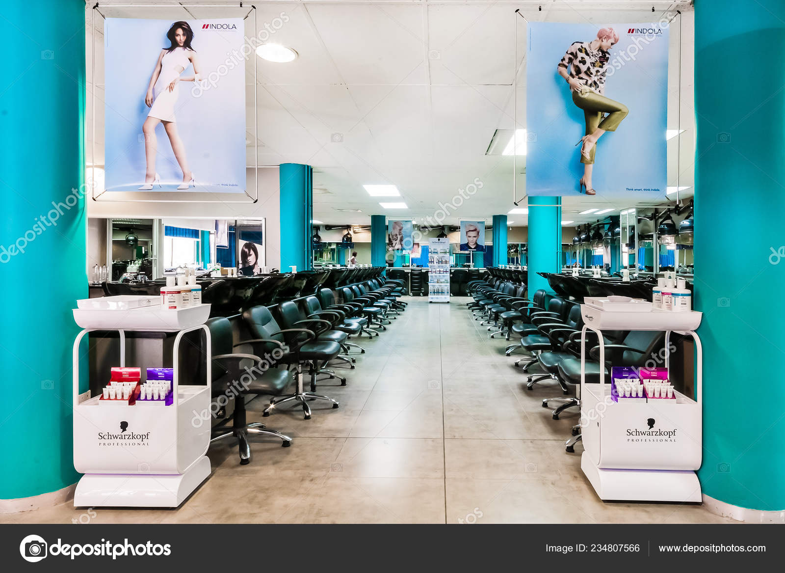 Johannesburg South Africa February 2015 Interior Beauty School Hairdresser Stock Editorial Photo C Sunshineseeds 234807566