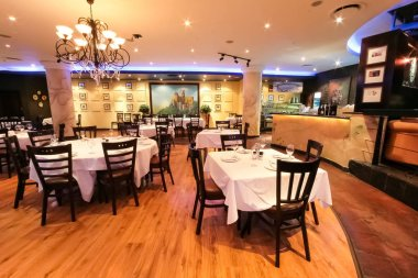 Johannesburg, South Africa - November 27 2008: Interior and Exterior of Portugues  Restaurant