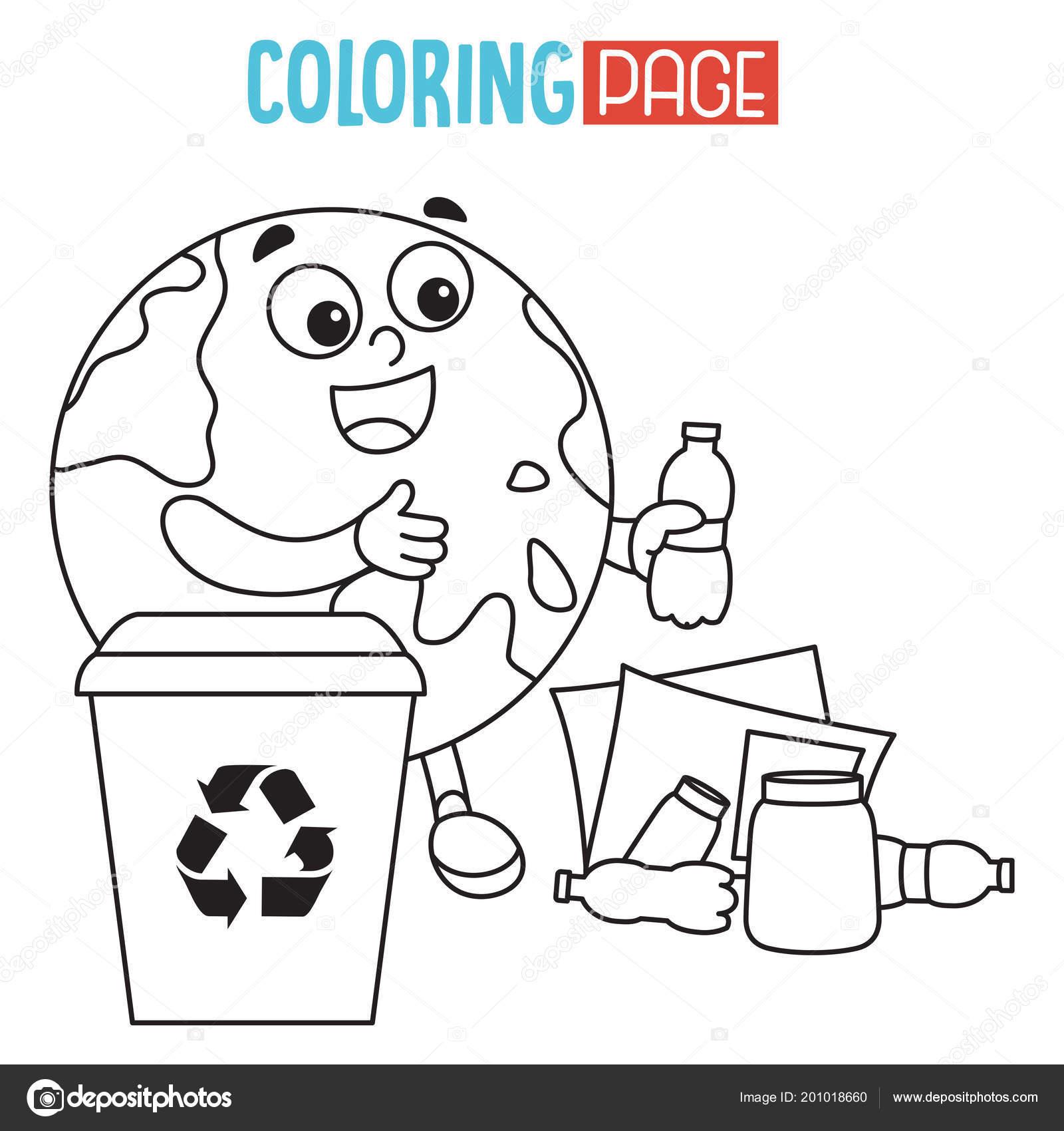 Vektör çizim Dünya Boyama Sayfası Stok Vektör Yusufdemirci