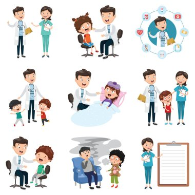 Vector Illustration  Set Of Medical And Healthcare clip art vector