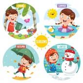 Fotografie Vector Illustration Of Seasons