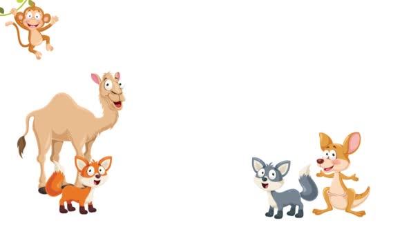 Animation Of Various Cartoon Animals
