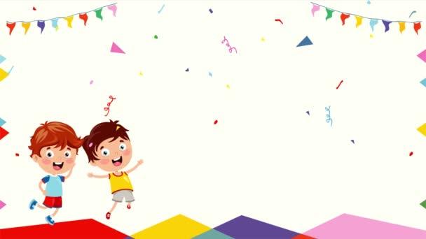 Děti se baví na narozeninové párty