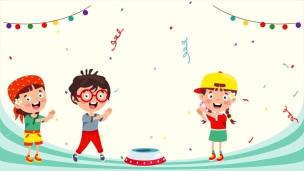 Gyerekek szórakozás aranyos bohóc