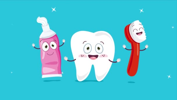 Brushing Teeth Concept With Cartoon Characters