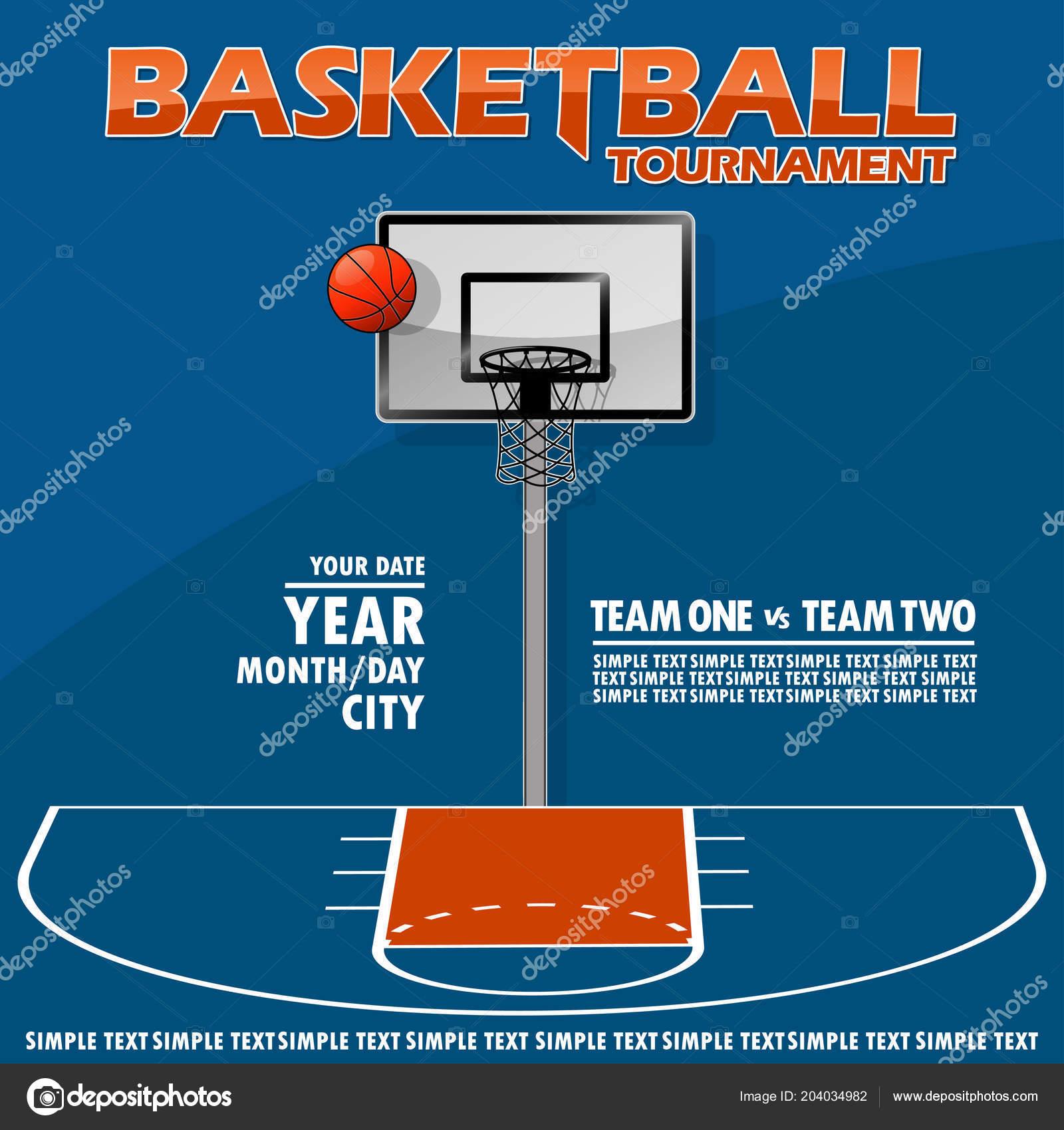 Variante Poster Para Torneio Basquete Todos Elementos Estão Localizados  Diferentes — Vetores de Stock 7f200879925f6