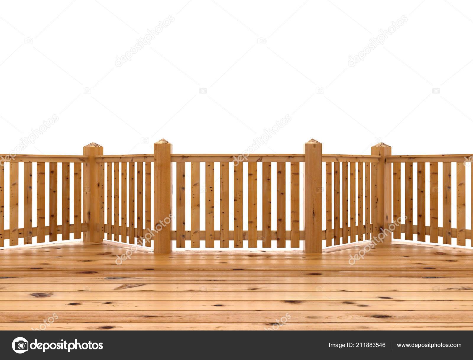 Render Illustrazione Terrazza Legno Abete Veranda Balcone