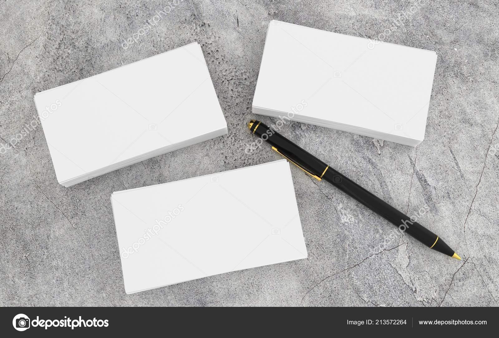 Render Leere Weiße Visitenkarte Vorlage Des Corporate Mit