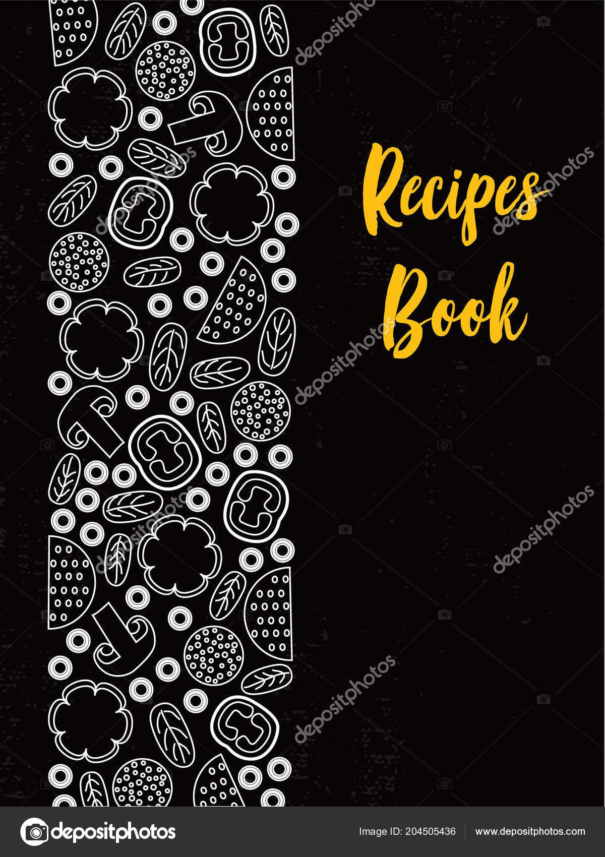 Recipe Book Cover Black And White Recipes Book Cover