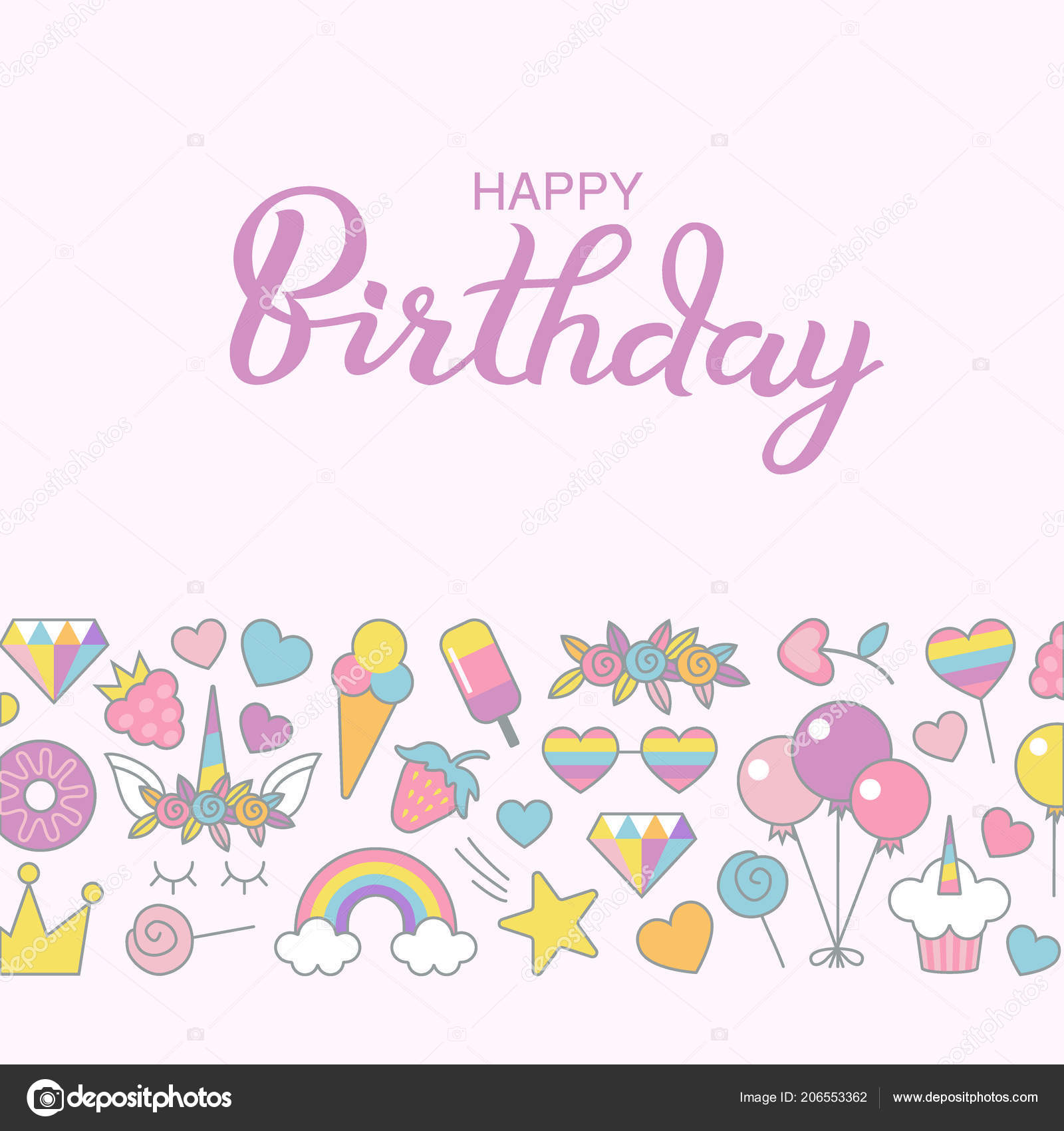 Happy Birthday Typographic Vector Design Greeting Birthday ...