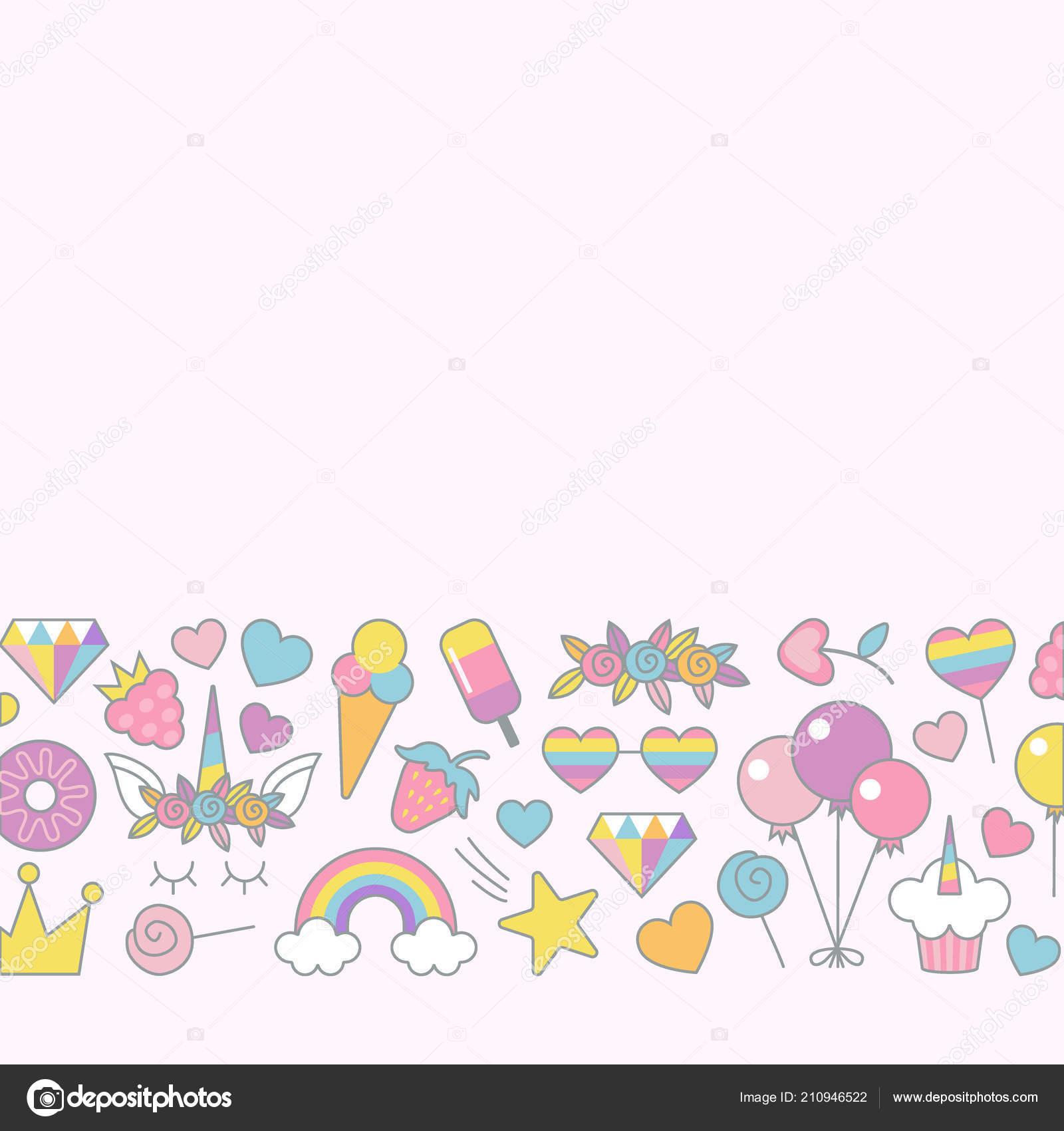 Unicorn objects flat vector design for greeting birthday unicorn objects flat vector design for greeting birthday invitation card vetor de stock stopboris Gallery