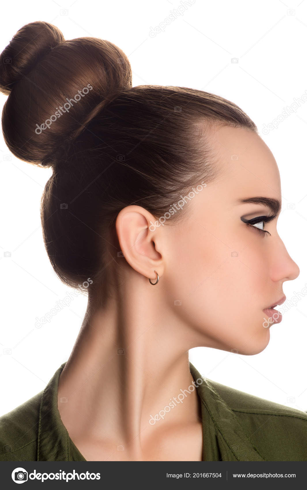 Beautiful Young Girl Gorgeous Hair Profile Face Closeup Stock Photo Image By C Dualshock 201667504