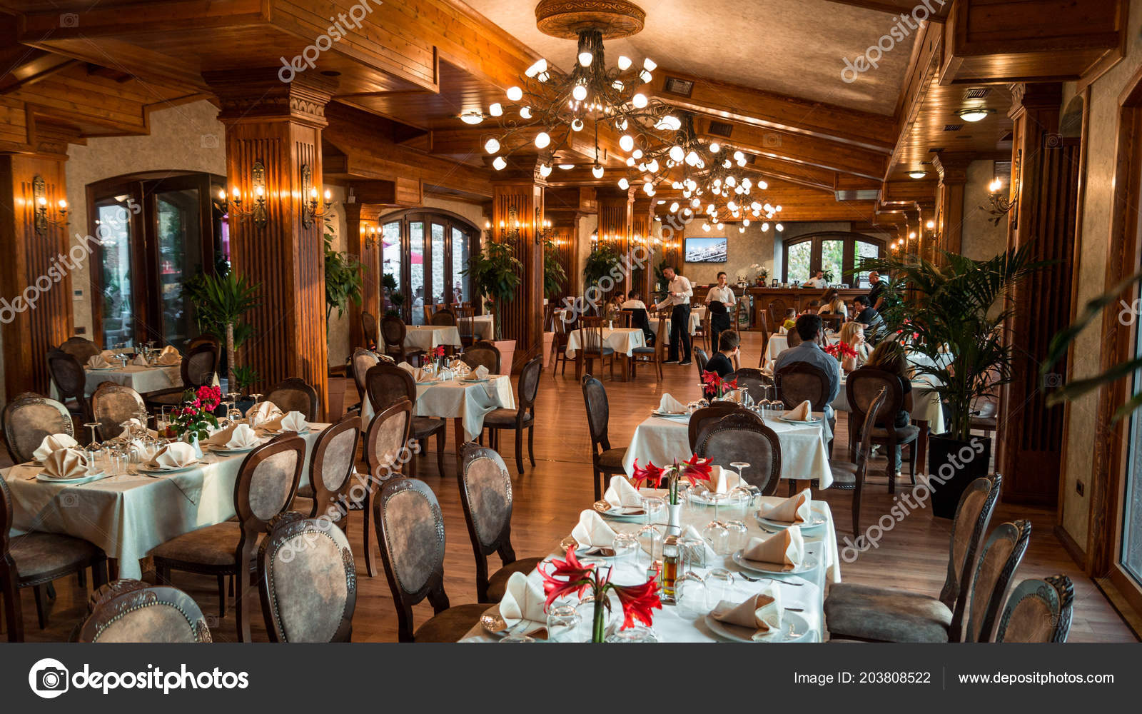 kruje albania sunday may 2018 restaurant interior dinner time rh depositphotos com