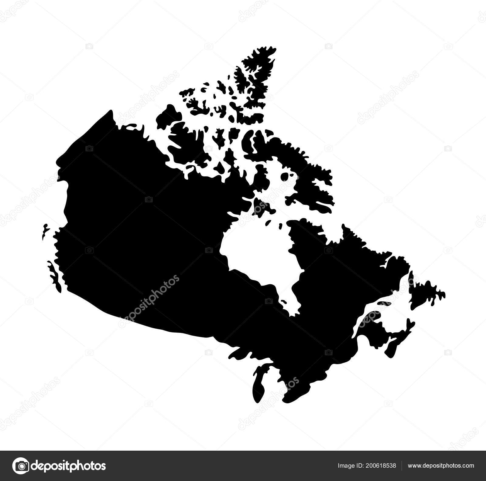 Map Of Canada Silhouette.Map Canada Good Use Symbol Logo Web Icon Mascot Sign Stock Vector