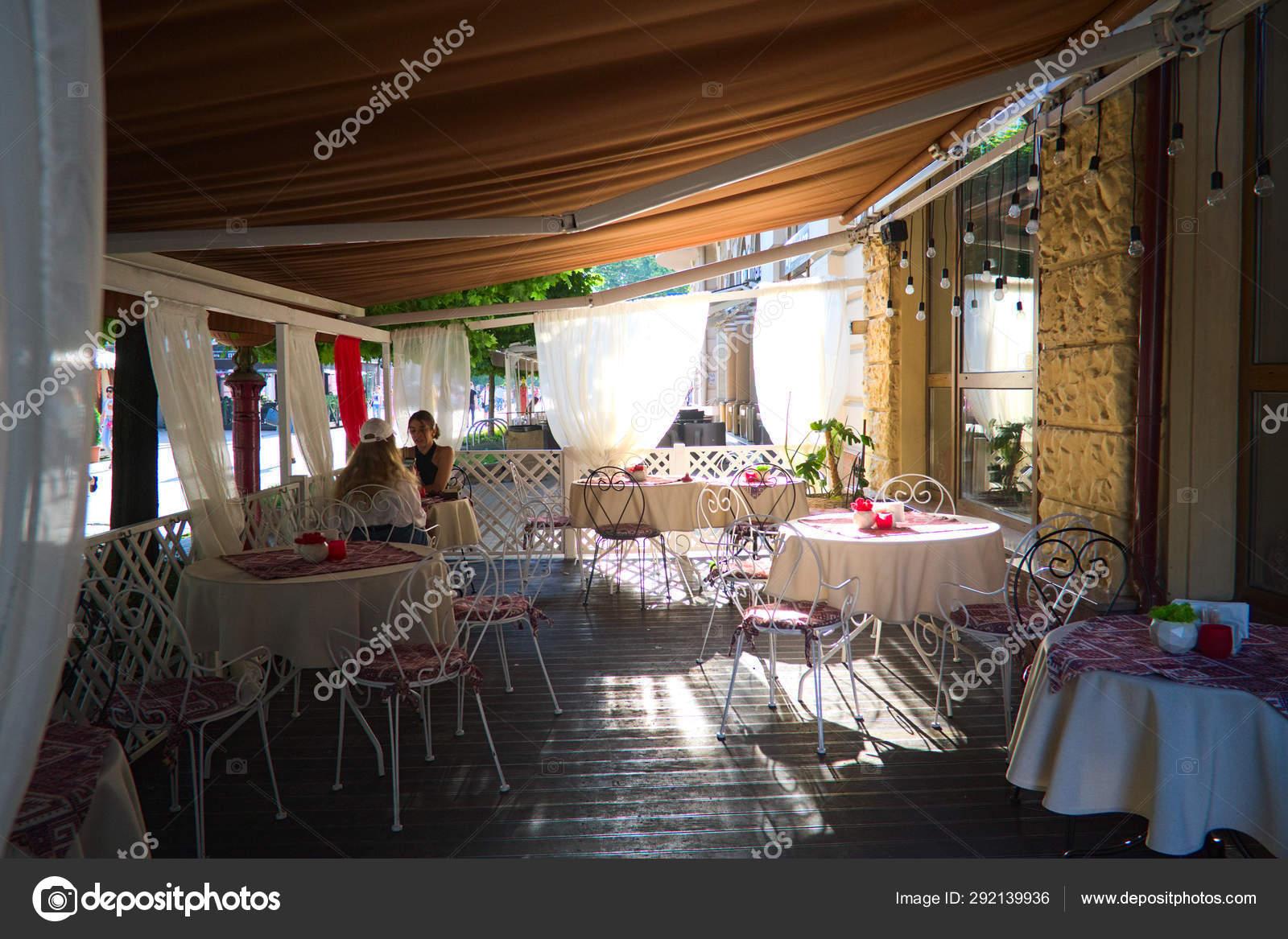 Ivano Frankivs Ukraine June 2019 People Have Dinner Terrace Restaurant Stock Editorial Photo C Vitaliikaras 292139936