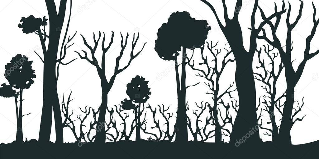 Illustration Cartoon Silhouette Black Forest