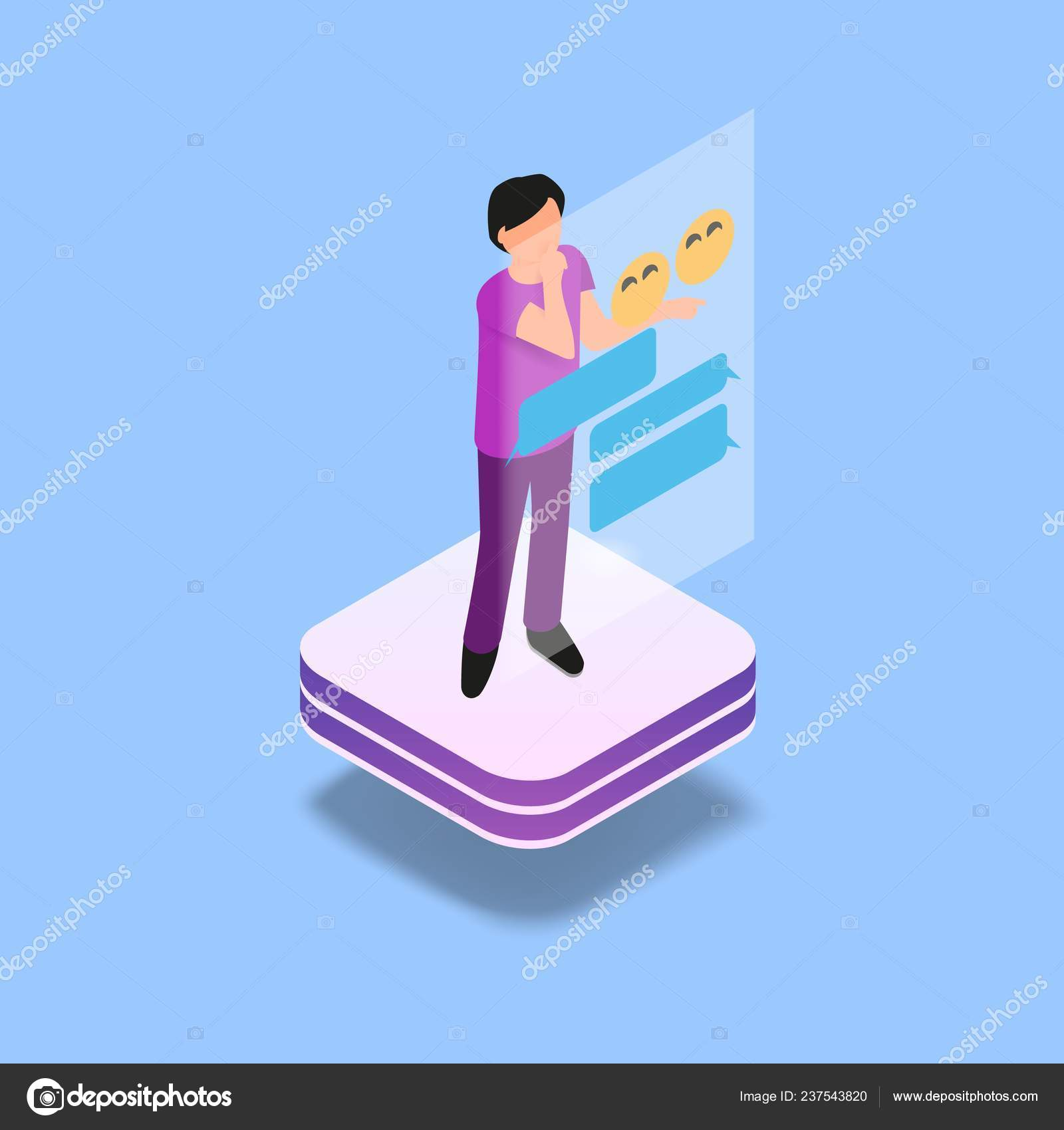 Isometric Image Gaming Virtual Reality Vector Illustration