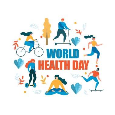 World Health Day Healthy Activity Illustration