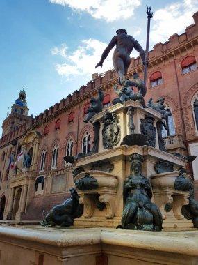 Neptune fountain in Bologna, Emilia-Romagna, Italy