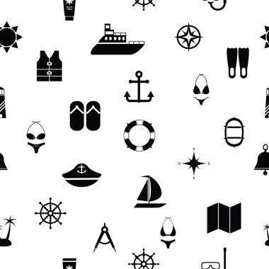 cruise seamless pattern background icon.