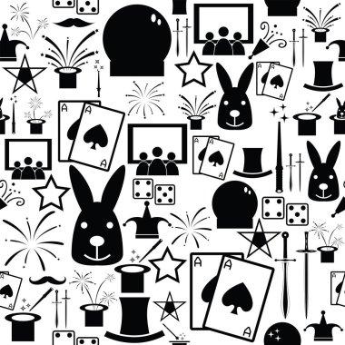 magic seamless pattern background icon.