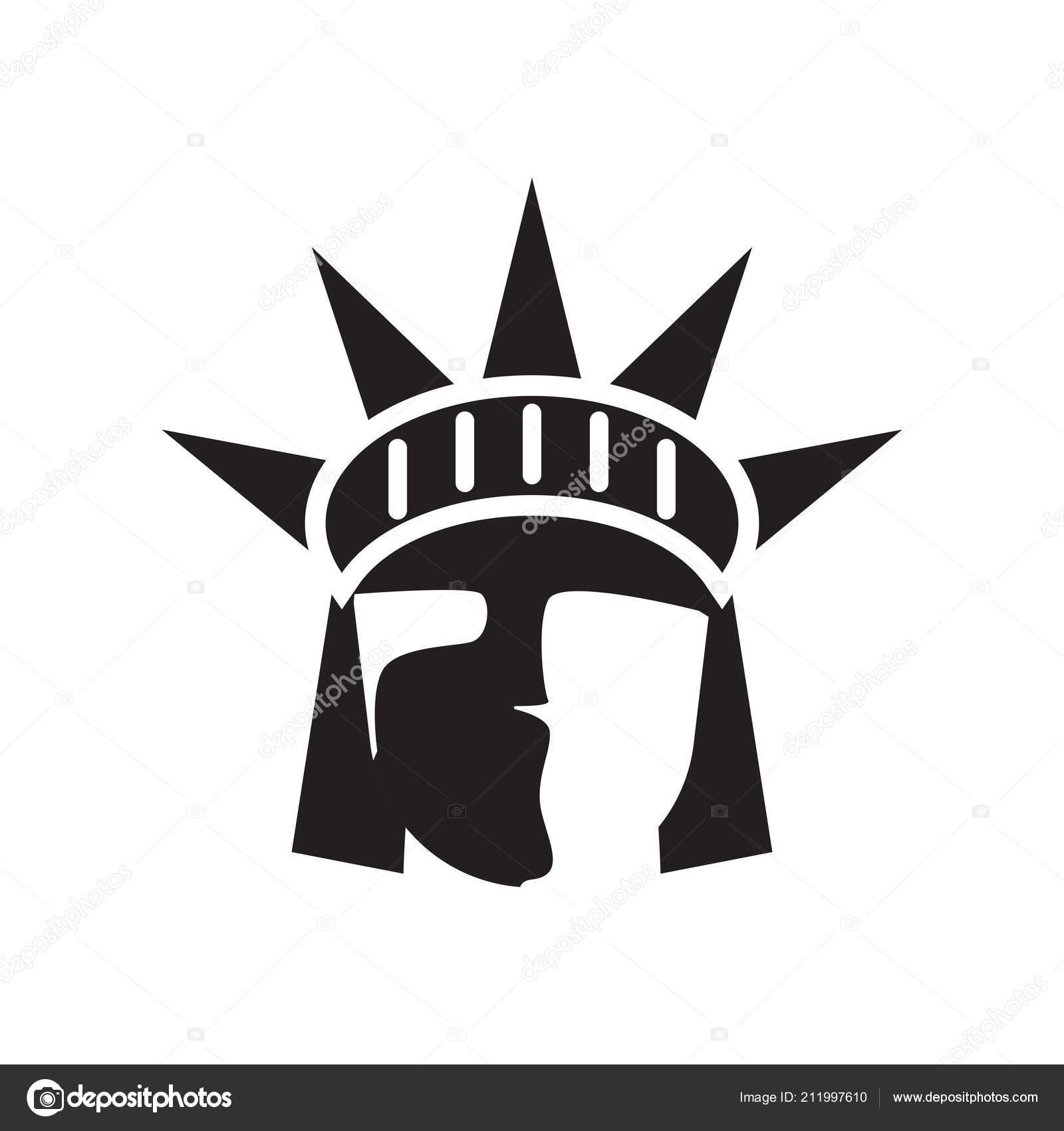 statue de la libert ic ne vector signe et le symbole isol sur blanc image vectorielle. Black Bedroom Furniture Sets. Home Design Ideas