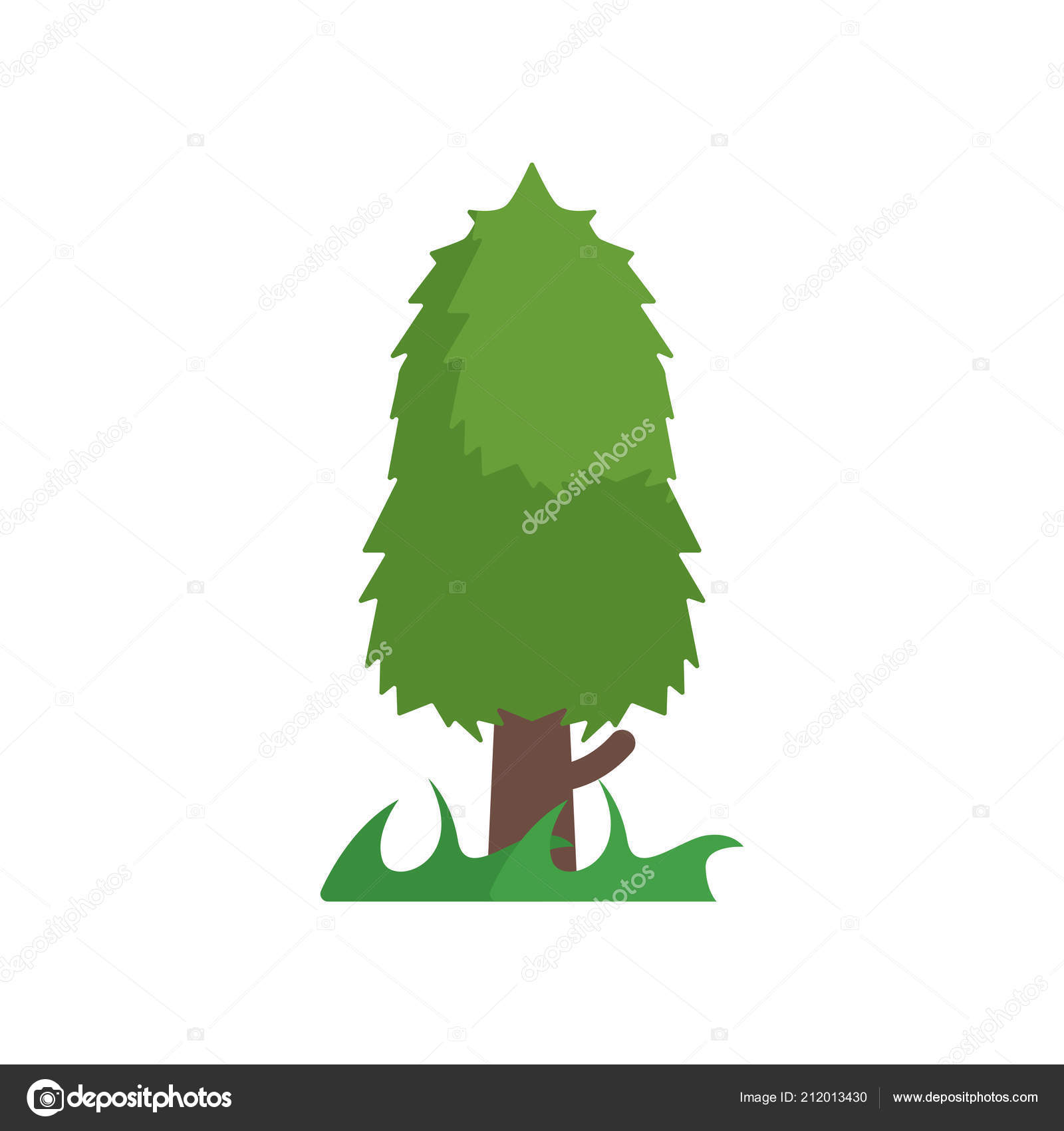 Tree Icon Vector Sign And Symbol Isolated On White Background T